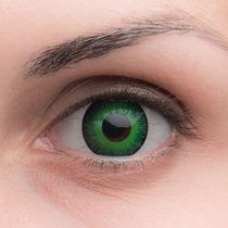 Карнавальные линзы Lensmam  Green Elf2